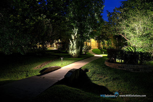 Led outdoor landscape lighting houston dallas miksolution garden lights aloadofball Choice Image